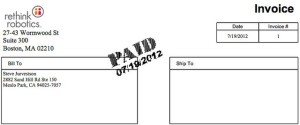 Invoices for small business clients